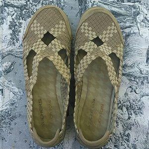 Skechers relaxed fit memory foam woven slip-ons